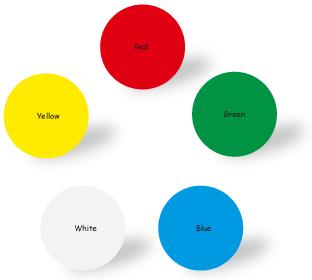 5色のバリエーション